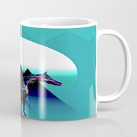 pony Mugs featuring Painted Pony by Laura Santeler