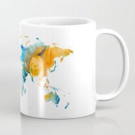World Map Art - Map Of The World 14 - By Sharon Cummings Coffee Mug