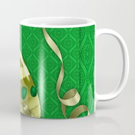 easter green background eggs Coffee Mug