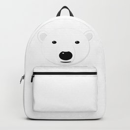 Cartoon Polar Bear Adult Backpack