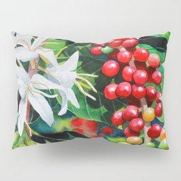 Mountain Thunder Coffee Flowers and Coffee Cherries Pillow Sham