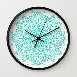 Moroccan Mandala – Turquoise Palette Wall Clock