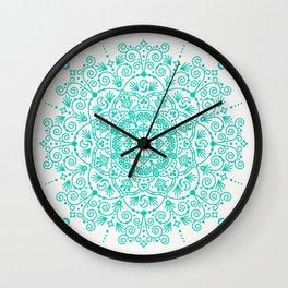 Moroccan Mandala – Turquoise Palette Wall Clock