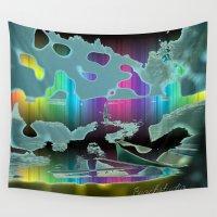 sail Wall Tapestries featuring Rainbow Sail by BeachStudio