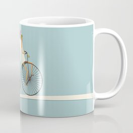Love Delivery. Cupid on the bike, retro style design Coffee Mug