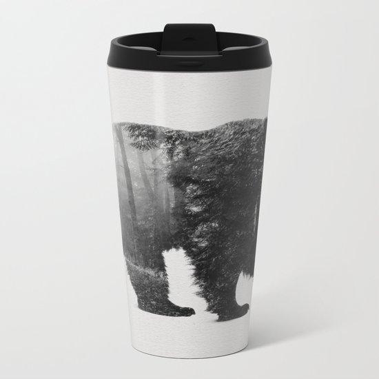 Into the Wild b&w Metal Travel Mug
