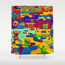 the king's judgment Shower Curtain