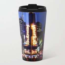 'Times Square NYC ~ BRIGHT LIGHTS' Travel Mug