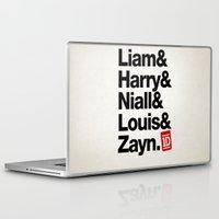 1d Laptop & iPad Skins featuring Original 1D by dan ron eli
