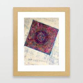 Mandala out my garden window Framed Art Print