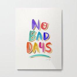 No Bad Days – Rainbow Palette Metal Print
