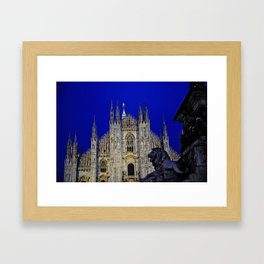The Lion and Duomo Framed Art Print