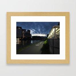 Sunset over a Japanese city Framed Art Print