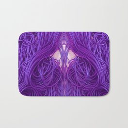 Purple Coils Bath Mat