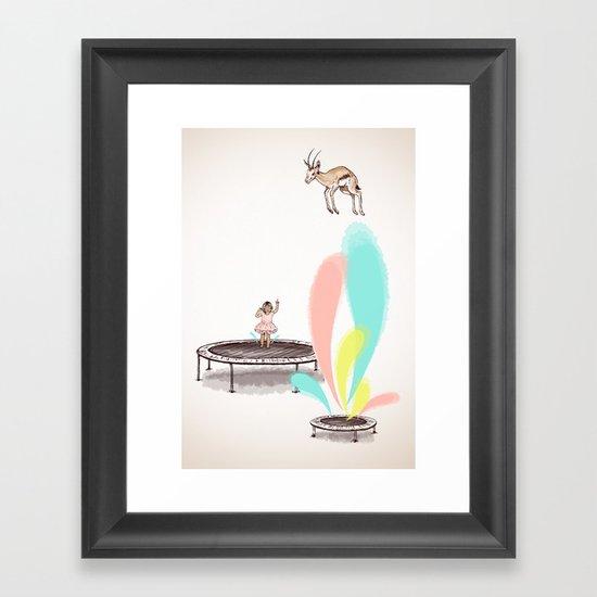 Gazelles Make Bad Friends Framed Art Print