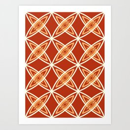 Mid Century Modern Atomic Print, Mandarin Orange Art Print