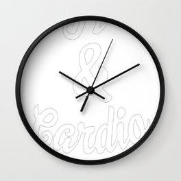 COFFEE & CARDIO T-SHIRT Wall Clock