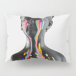 The Girl With Stars In Her Eyes (On White) Pillow Sham