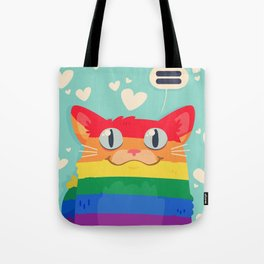 LGBT Cat Tote Bag