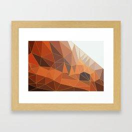 Autumn abstract landscape 5 Framed Art Print