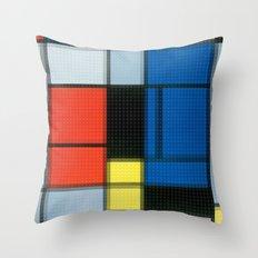 Lego: Piet Mondrian no.2 Throw Pillow
