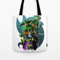 dbz Tote Bags featuring Cell by FeLipe Aquino