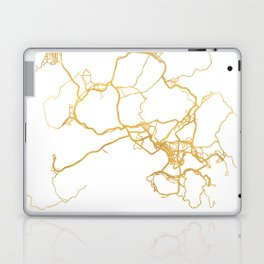 HONG KONG CHINA CITY STREET MAP ART Laptop & iPad Skin