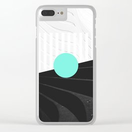 Teal Clear iPhone Case