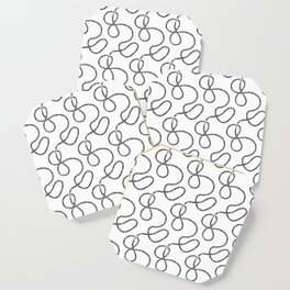 bicycle chain repeat pattern Coaster
