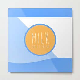 Milk, Daily Fresh Metal Print