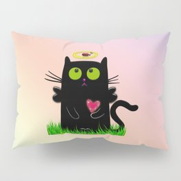 angel cat and ladybug Pillow Sham