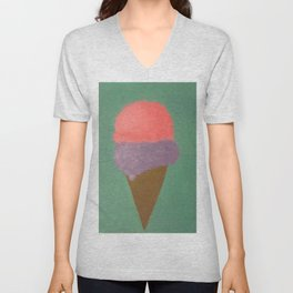 Ice Cream Snow Cone Unisex V-Neck