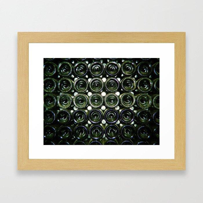 Cava Bottles Framed Art Print