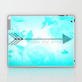 Follow Your Arrow (Aqua) Laptop & iPad Skin