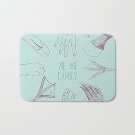 We Are Family Bath Mat
