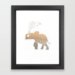 GOLD ELEPHANT Framed Art Print
