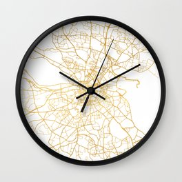 DUBLIN IRELAND CITY STREET MAP ART Wall Clock