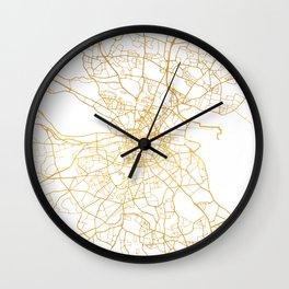 DUBLIN IRELAND CITY STREET MAP ART Wall Clock