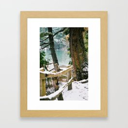Winter by the Bay Framed Art Print