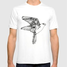 Fly. MEDIUM Mens Fitted Tee White