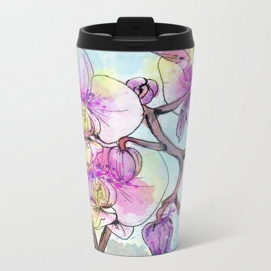 Orchids 05 Metal Travel Mug