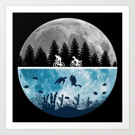 Close Encounters of the Moon Art Print