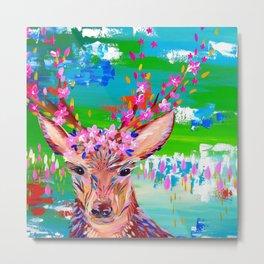 Deer Print Metal Print