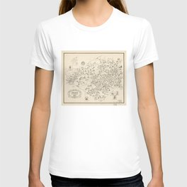 Map of Orange County, New York before 1810 T-shirt