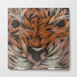 TIGER color Metal Print