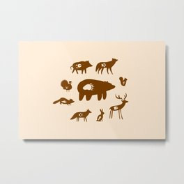 Nature Trail in Coffee and Cream Metal Print