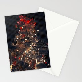 Shopping Cart Christmas Tree in Hollywood - day two color Stationery Cards