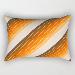 Tan Candy Stripe Rectangular Pillow