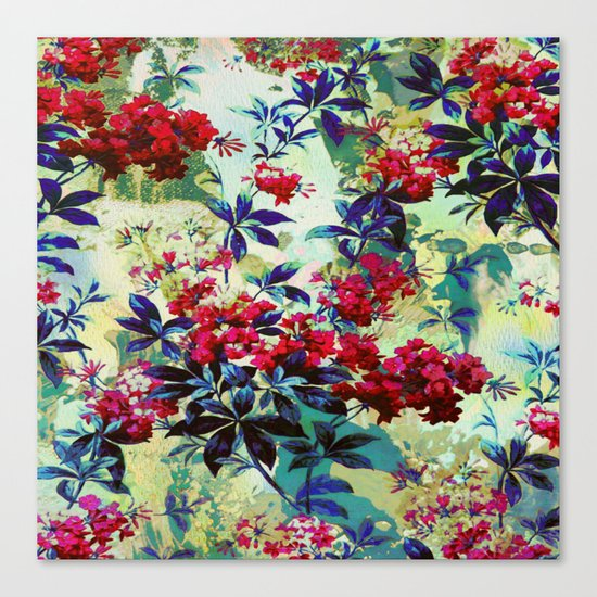 pretty red flowers Canvas Print