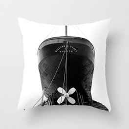 Ship William E. Corey Throw Pillow